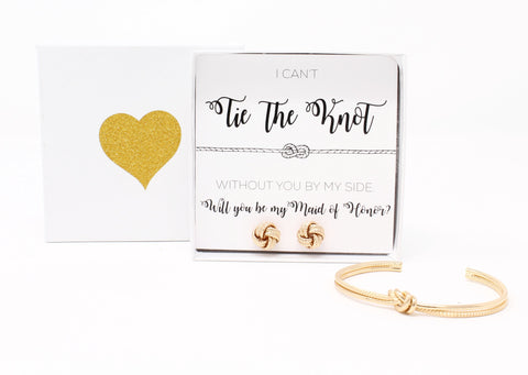 Sailor Love Knot Bracelet & Earring Set - Maid of Honor