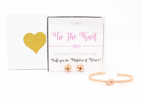 Sailor Love Knot Bracelet & Earring Set - Matron of Honor