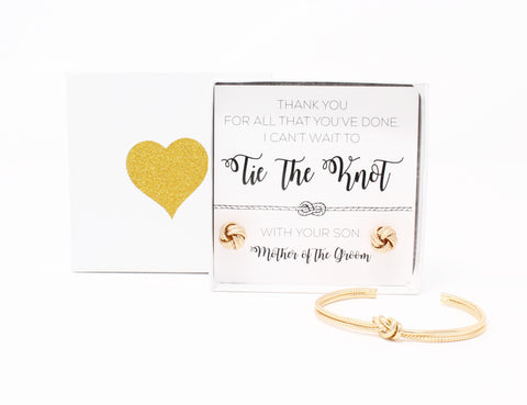 Sailor Love Knot Bracelet & Earring Set - Mother of the Groom