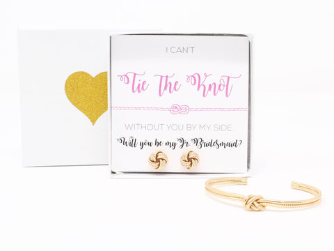Sailor Love Knot Bracelet & Earring Set - Jr. Bridesmaid