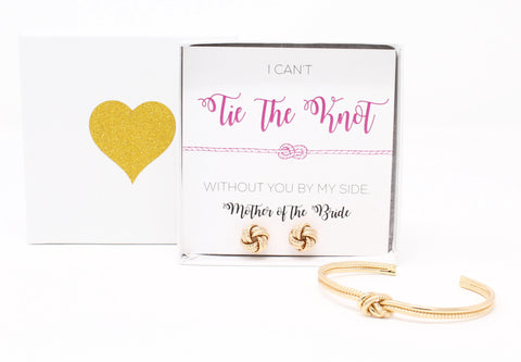 Sailor Love Knot Bracelet & Earring Set - Mother of the Bride
