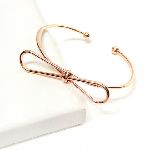 Rose Gold Bow Bracelet-Lemon Honey Jewelry