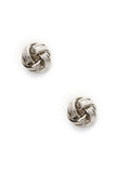 Silver Tie the Knot Earrings