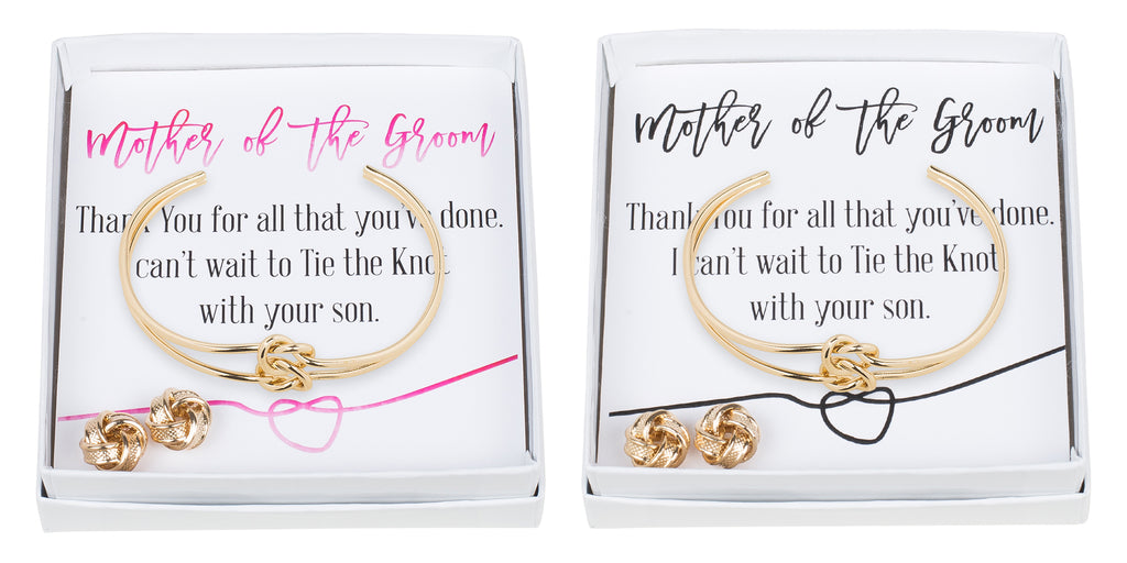 Double Knot Bracelet & Earring Set - Mother of the Groom