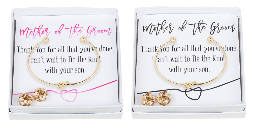 Single Knot Bracelet & Earring Set - Mother of the Groom