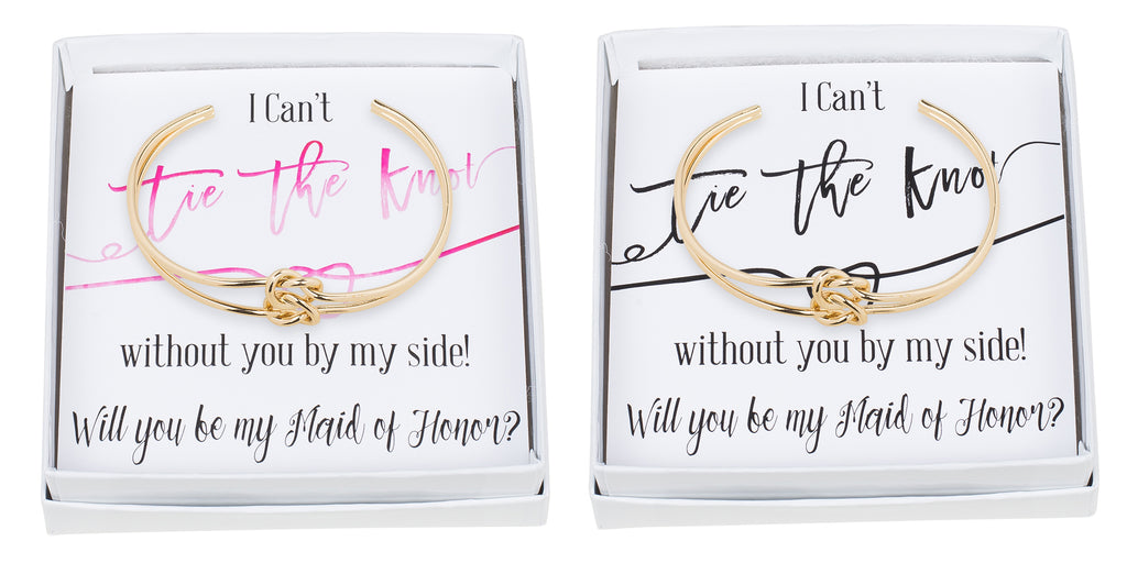 Double Tie the Knot Bracelet - Maid of Honor