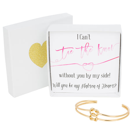 Double Tie the Knot Bracelet - Matron of Honor