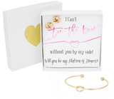 Single Knot Bracelet & Earring Set - Matron of Honor