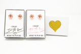 Rose Gold Tie the Knot Proposal Earring Sets