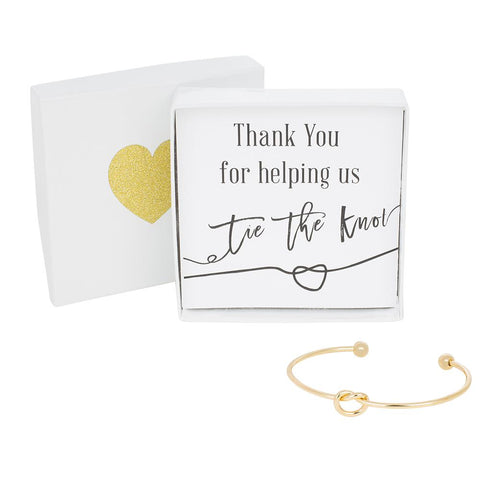 Single Tie the Knot Bracelet - Thank You-Lemon Honey Jewelry