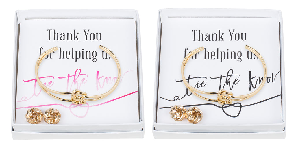 Double Knot Bracelet & Earring Set - Thank You