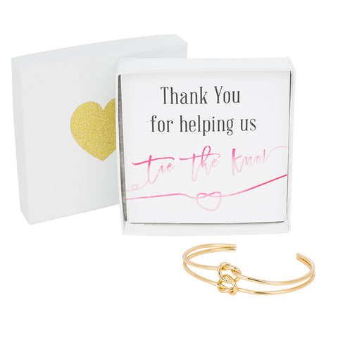 Double Tie the Knot Bracelet - Thank You