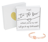 Double Tie the Knot Bracelet - Bridesmaid