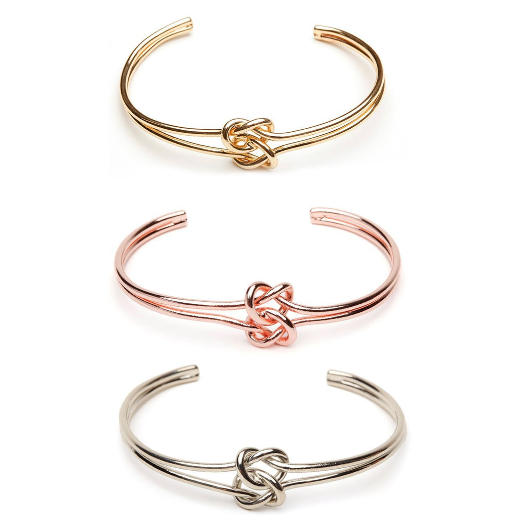 Double Knot Bracelet & Earring Set - Plain