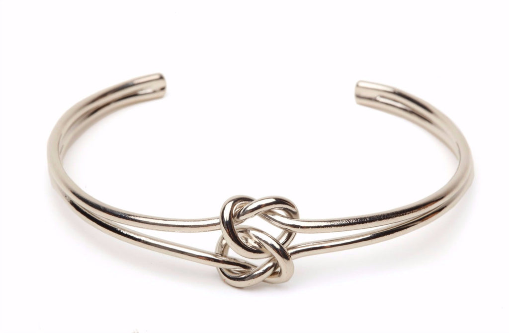 Silver Double Tie The Knot Bracelet-Lemon Honey Jewelry