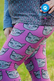 Raspberry Kitty Leggings