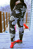 Dark Matter Floral Leggings