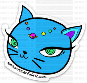Neptune Kitty Stickers and Magnets