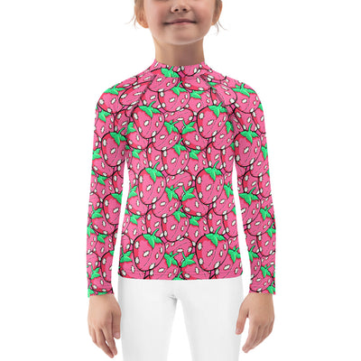 Pink Stitchberries Unisex Kid's Rash Guard