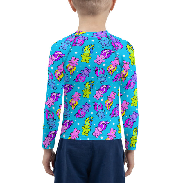 Bright Trolls Unisex Kid's Rash Guard