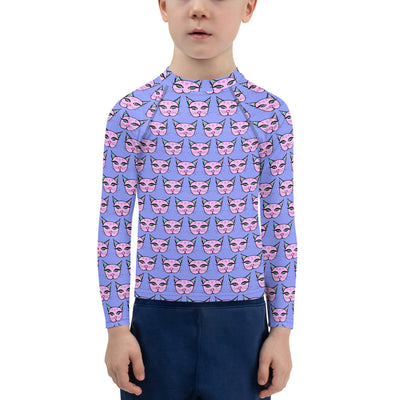 Classic Kitty Unisex Kid's Rash Guard - First Bloom Colorway