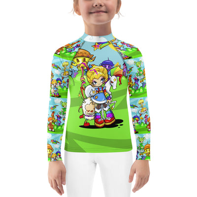 Rainbow Girl Kid's Rash Guard