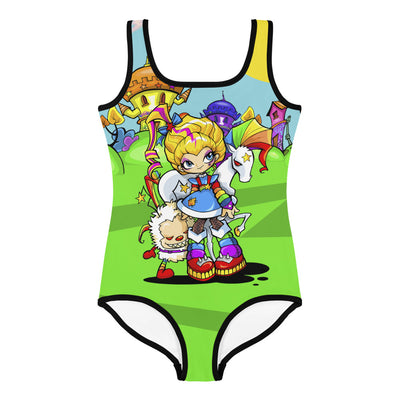 Rainbow Girl Kid's Swimsuit