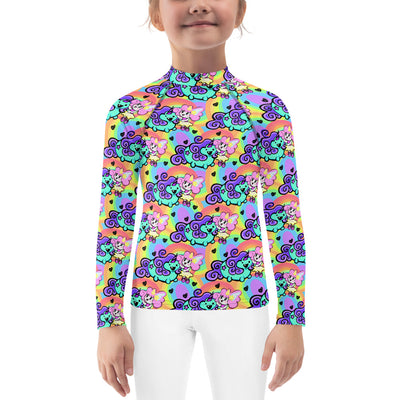 Besties Unisex Kid's Rash Guard