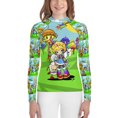 Rainbow Girl Youth Rash Guard