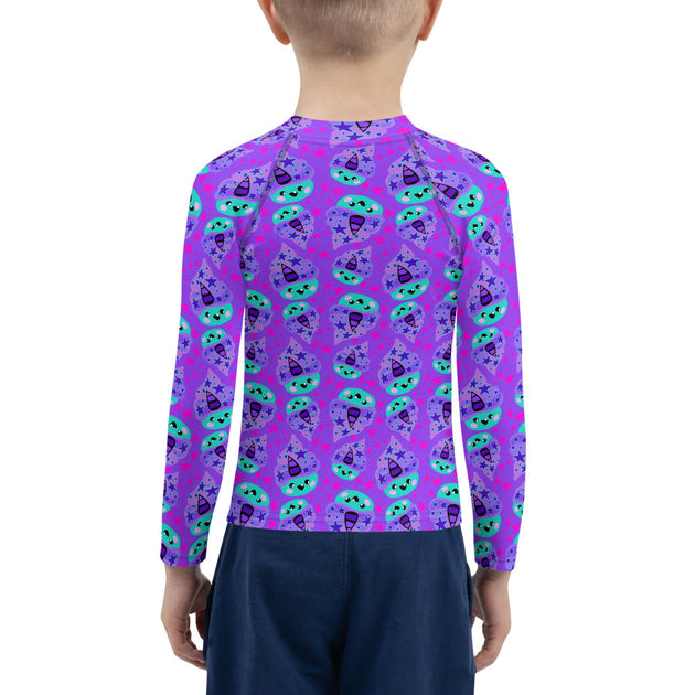 Snarf Cakes Unisex Kid's Rash Guard - Ruby's Colorway