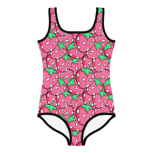 Pink Stitchberries Kid's Swimsuit