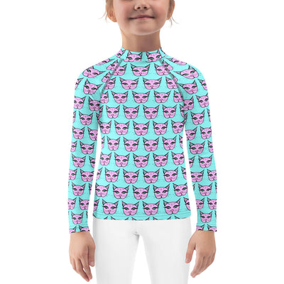 Classic Kitty Unisex Kid's Rash Guard - Sweet Spring Colorway