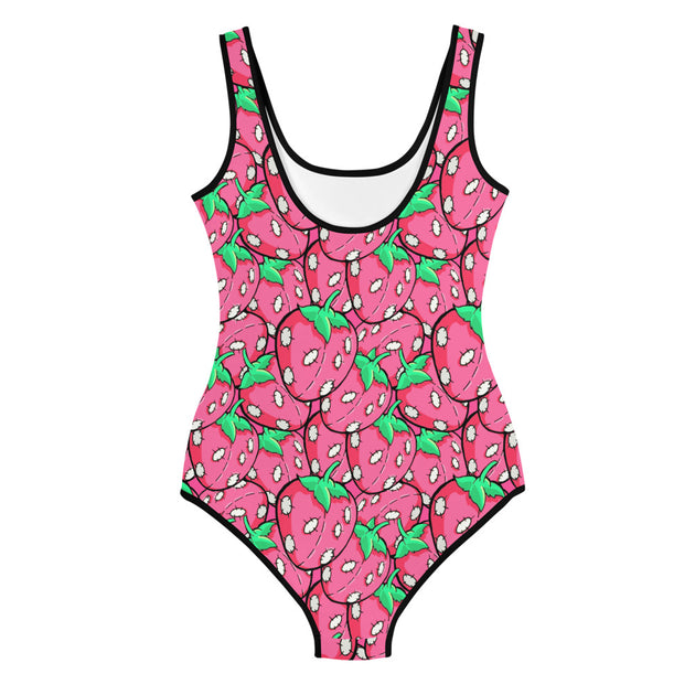 Pink Stitchberries Youth Swimsuit
