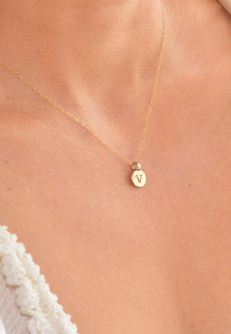 mini calavera necklace