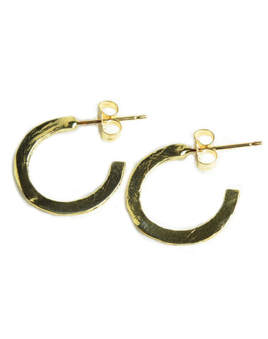 Gold filled stone hoops