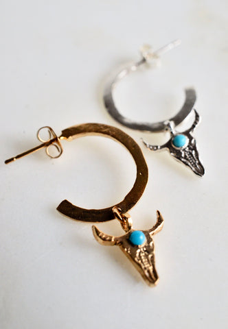 Skull bliss hoops