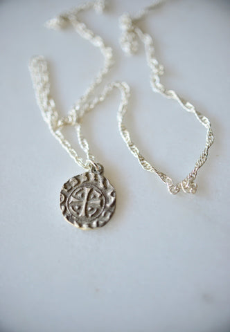 Eye rope silver necklace