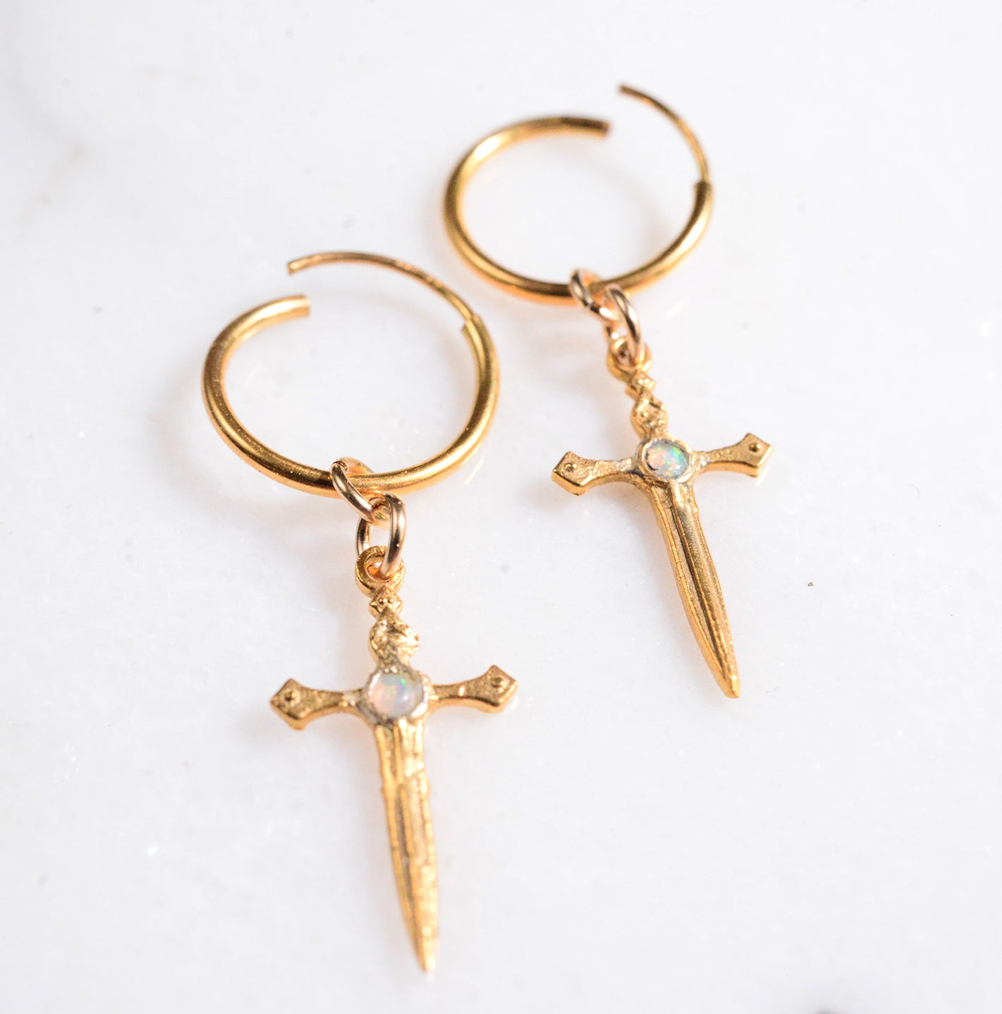 mini dagger hoops