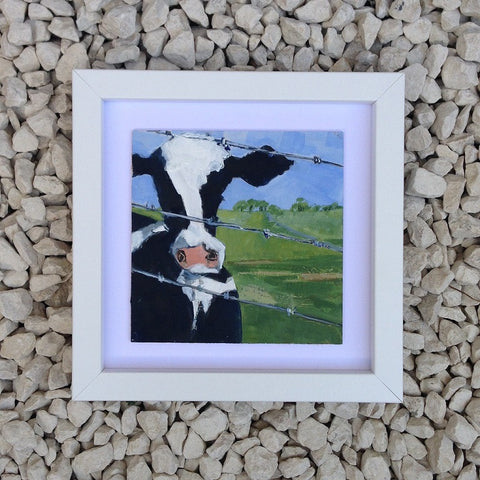 One cow - Original painting