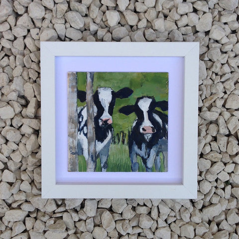 Two cows - Original painting