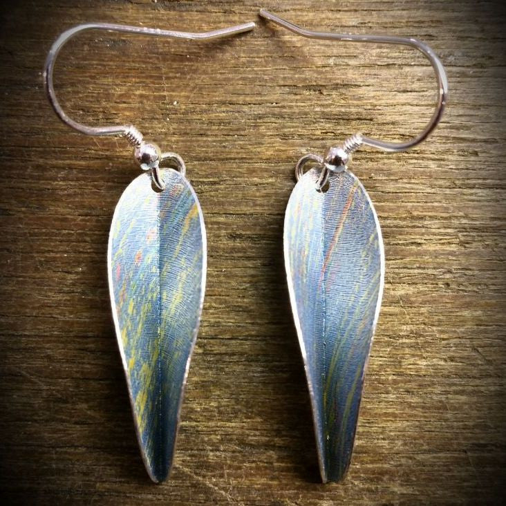 Chilli drop earrings - Blue