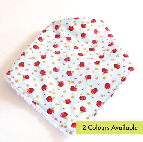 Bandana Dribble Bib - Apples print