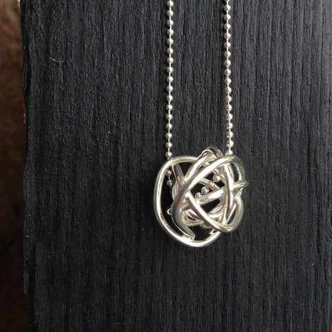 Wire Ball pendant necklace