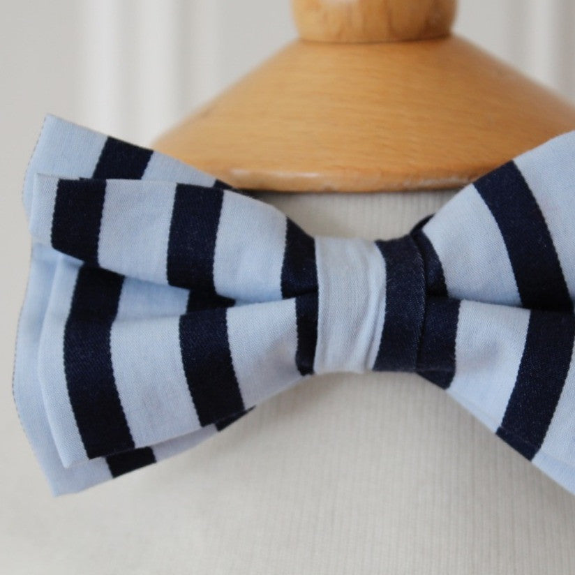 Kid's Bow Tie - Blue stripe