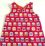 Funky Monkey Smock Dress - Camper Van Print