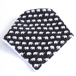 Bandana Dribble Bib - Elephant prints