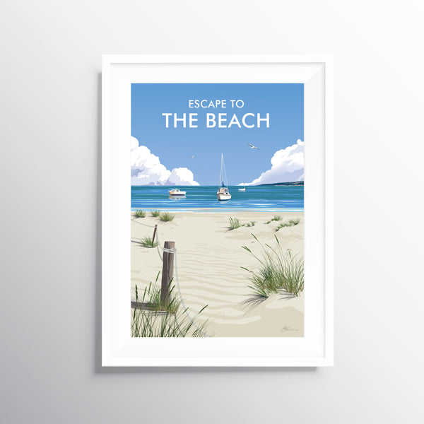 'Escape to the Beach' Travel Art Print