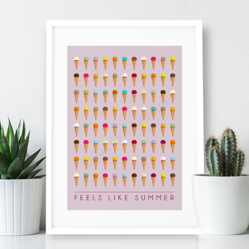 Feels like Summer - Ice creams Print