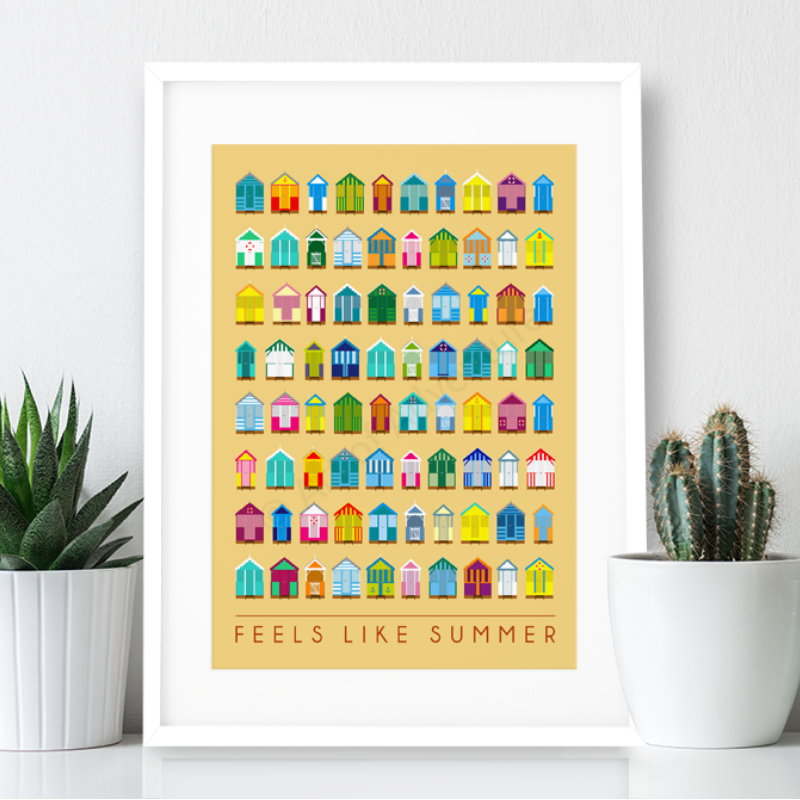 Feels like Summer - Beach Huts Print