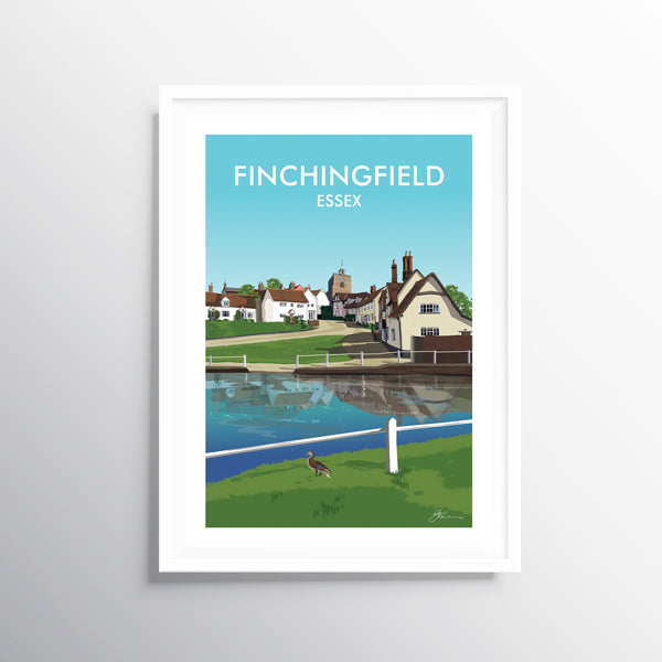 'Finchingfield' Travel Art Print
